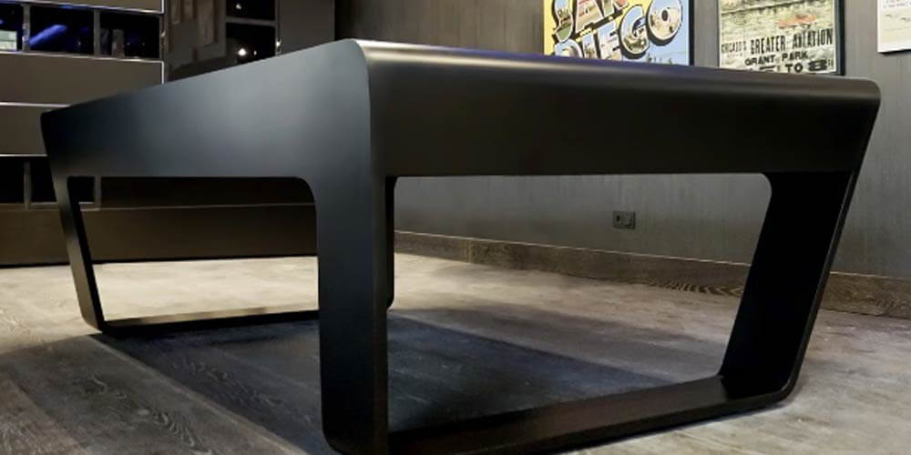Modern billiard table in black from 247 billiards