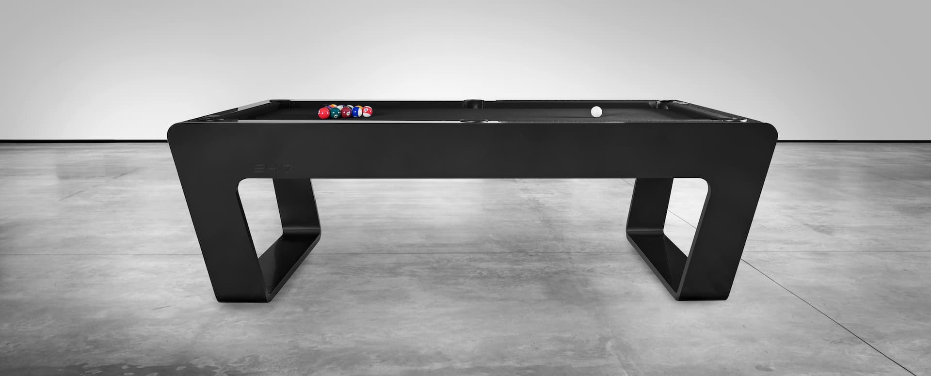 247 pool table with clean and dynamic lines