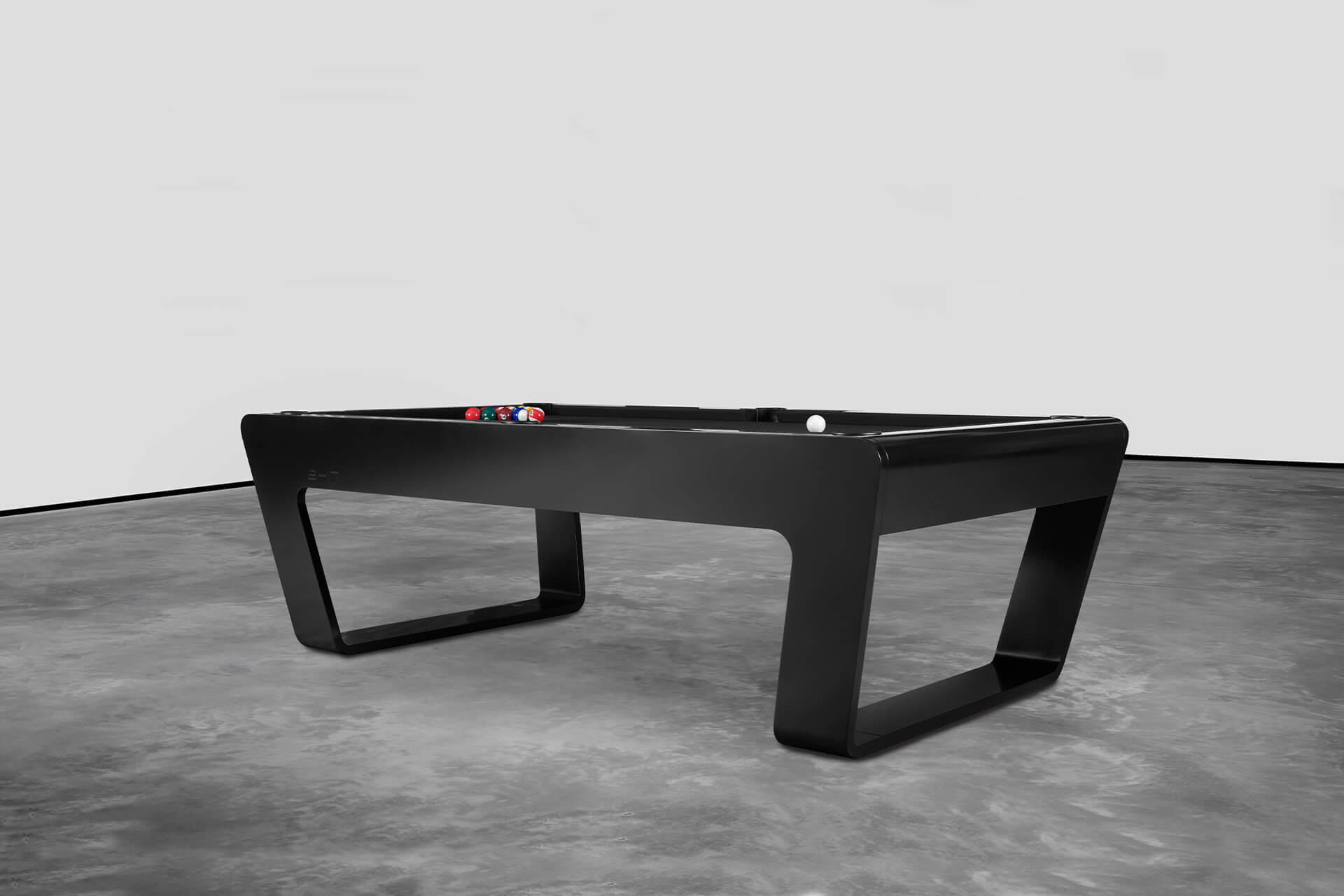 Black high-end pool table
