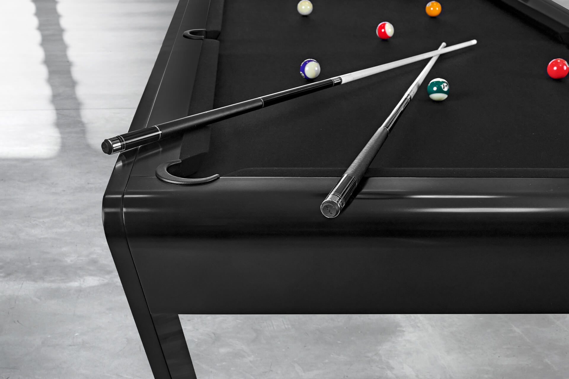 Luxury Billiard Table with high-end cues