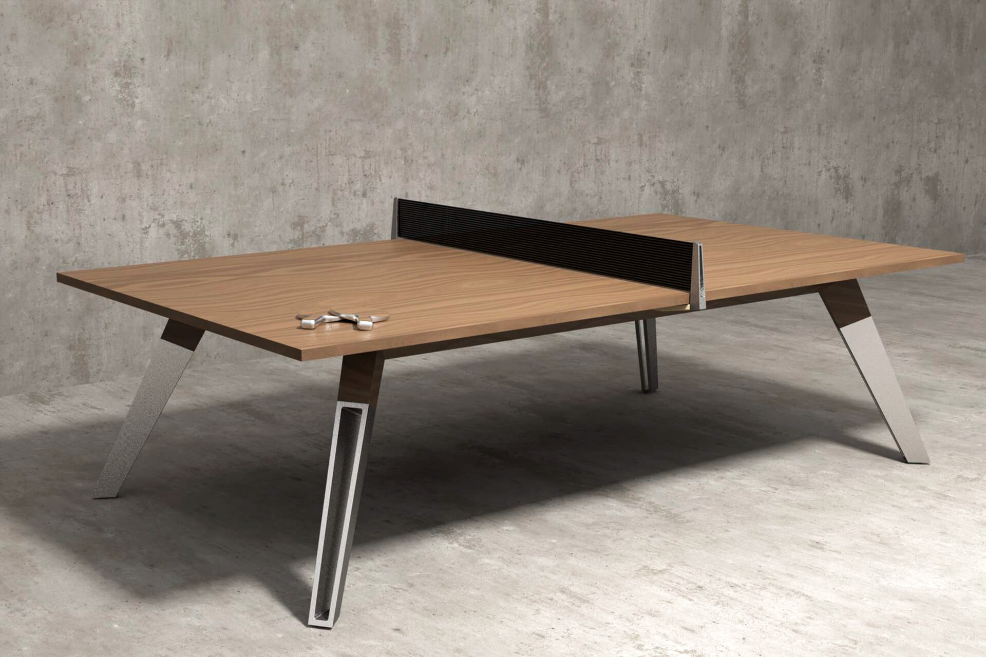 Elegant Oak Wood Ping Pong Table