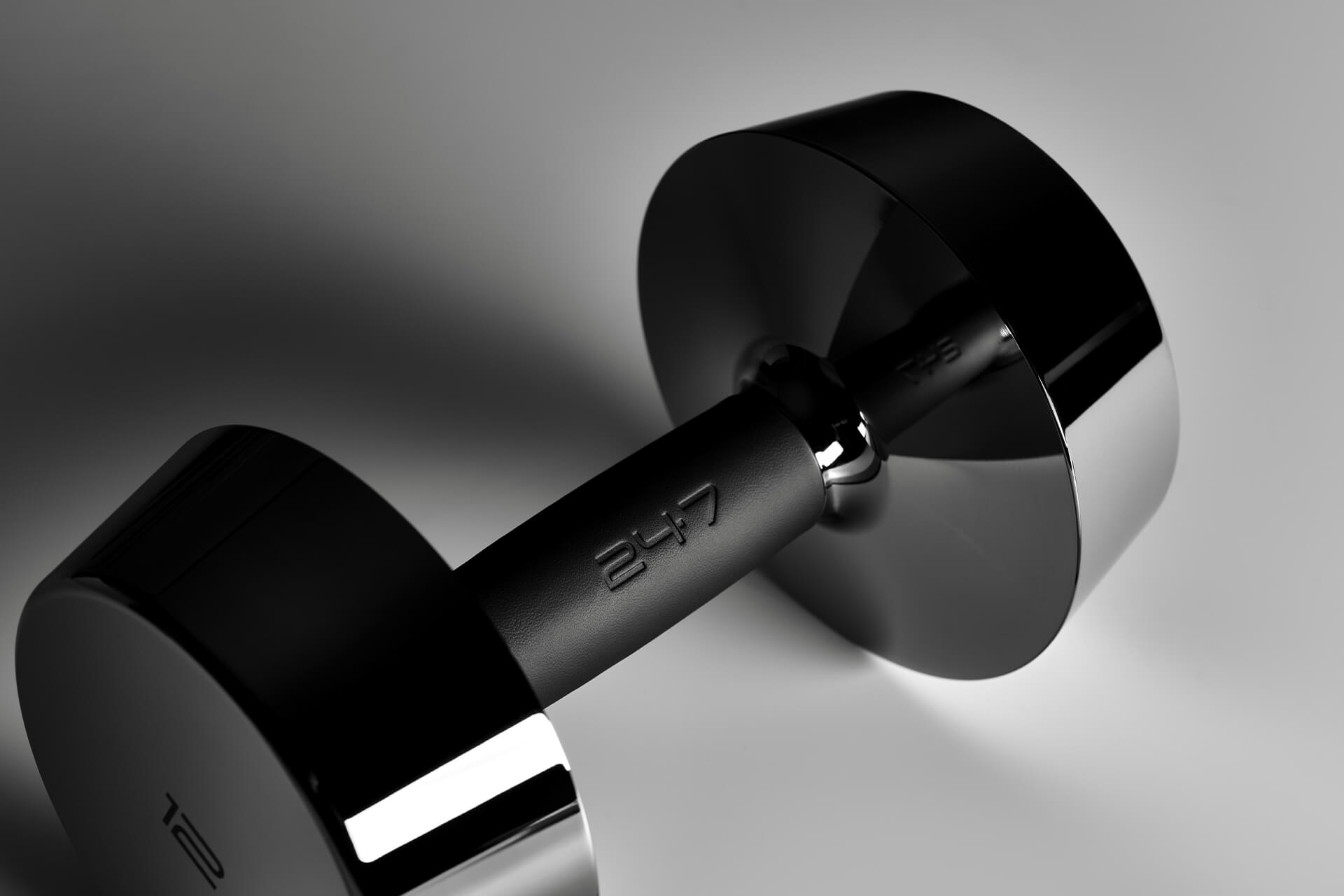 Luxury Dumbbells in Stainless Steal and Leather